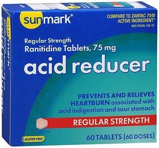 sunmark Antacid 75 mg Strength Tablets, 60 per Box