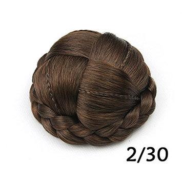 Women Braided Chignon Masquerade Party Synthetic Clip in Hair Extensions Bun