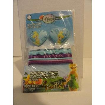 Disney Fairies Hair Barrettes and Hair Elastics - 8 Pieces