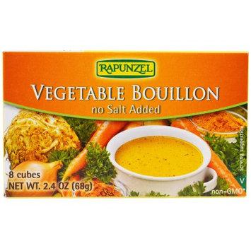 Rapunzel Pure Organic Vegetable Bouillon, No Salt Added, 2.4 OZ (Pack of 2)