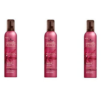 [PACK OF 3] SMOOTH N SHINE STRAIGHT BODIFYING MOUSSE MOIST & SHINE 9oz