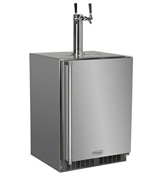 MARVEL Half-Barrel Stainless Steel Digital Built-In Kegerator MO24BTS2RS