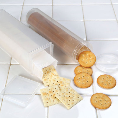 Cracker Keeper Set - Round and Square Cracker Container