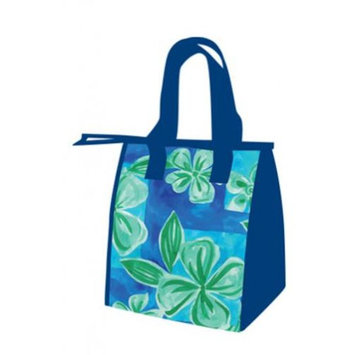 Hawaiian Brushed Plumeria Small Insulated Reusable Lunch Bag