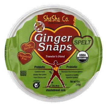 Shasha Cookie Ginger Snap Spelt 12 Oz Case Of 16