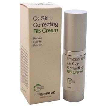 LashFood DermaFood O2 Skin Correcting BB Cream, Sand, 0.5 Oz