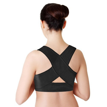 Yphone Unisex Personal Posture Corrector Supportive Back Wrap Back PAIN Relief S/M Black