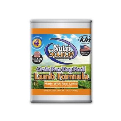 NutriSource Grain-Free Lamb Formula Wet Dog Food, 13 oz