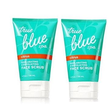 Tru Blue Spa 2 Pack Citrus Exhilarating & Exfoliating Face Scrub 4 Oz.