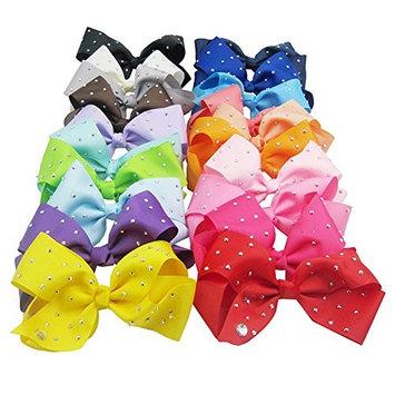 Bluelans 20 Pcs Large Big Grosgrain Ribbon Hair Bows WITH Alligator Clips Boutique Bow