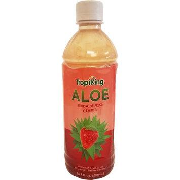 Tropiking Strawberry-Aloe Drink 16.9 oz fl - Bebida Fresa y Savila (Pack of 18)