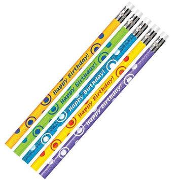 J.R. Moon Pencil JRM52063BBN Birthday Glitter Assortment Pencil - 12 Dozen