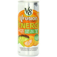 V8 +Energy, Juice Drink with Green Tea, Orange Pineapple, 8 oz.(Each Can), Pack of 24