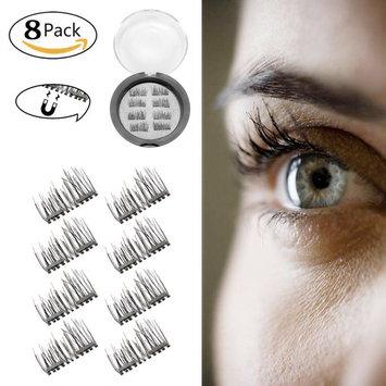 Miohy New Black Magnetic False Eyelashes Reusable Dual Magnetic Eyelashes Extremely Thin 3D No Glue Magnetic Eyelashes Ideal for Deep & Round...