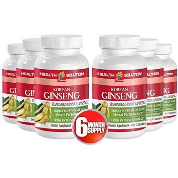 Red ginseng extract pills - KOREAN GINSENG - improve digestive tract (6 Bottles)