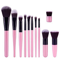 11Pcs 9 Color Style Eye Cosmetics Foundation Bulsh Power Makeup brush Eyeshadow Eyebrow Eyeliner Lip Beauty Set Kabuki Tool Kits