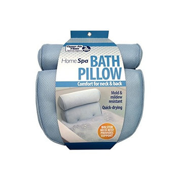 Soft Bath Spa Pillow Comfort Neck & Back Open Air Fiber Pillow air and moisture flows through the OPEN-AIR FIBER Provides Healthy Relaxation in the Bathtub without the Odor of Foam Pillows