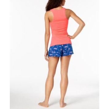 by Jennifer Moore Solid Tank Top & Printed Boxer Shorts Sleep Separates, Created for Macy's