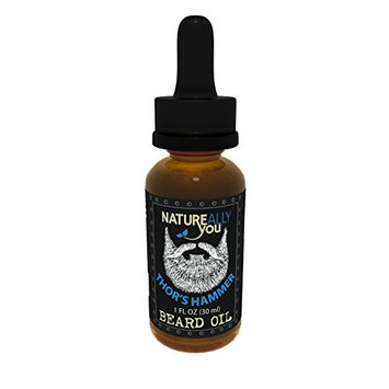 NATUREALLY YOU© - Beard Oil - Thor's Hammer - (1 oz) - Moisturize Skin, Stimulate Growth, Make Hair Softer, Smooth, No Left Over Residue, Eliminate Itchy Skin, Treat...