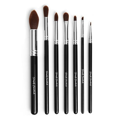 BEST MAKEUP BRUSH SET - Set of 7 brushes- Professional Quality - Apply Makeup Like a Pro- For Beautiful Results!