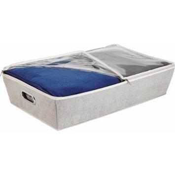 Simplify Under the Bed Grommet Storage Bin with Clear Zip Top