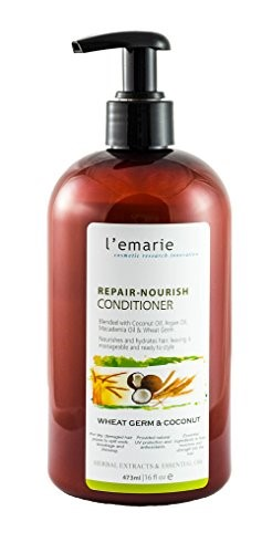 L'emarie Wheat Germ & Coconut Conditioner Repair, Healing & Growth with Essential Oils / Herbal Extracts (16oz)