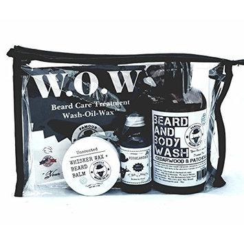 Famous Beard Oil Hydrating Beard Care WOW Kit Highlander - Includes Beard Balm, Beard Oil and Beard and Body Wash