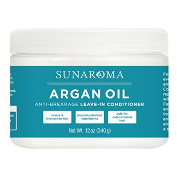 Sunaroma Argan Oil 12 Ounce Jar Leave-In Conditioner (355ml) (2 Pack)