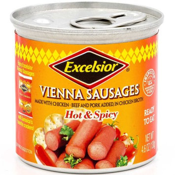 Excelsior Vienna Sausages, Hot & Spicy, 4.6 Oz