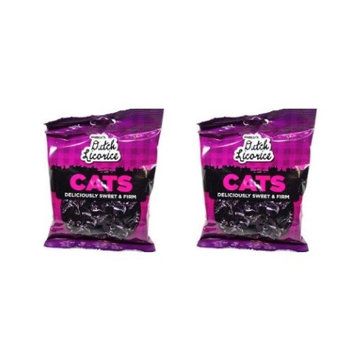 Gustaf's Dutch Licorice Cats, 5.2-Ounce Bags (Pack of 2)