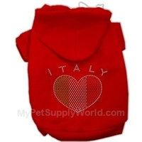 Italian Rhinestone Hoodies Red M (12)