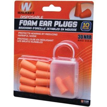 Walker Foam Ear Plug, 10pk Blister