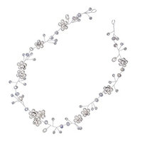 Dovewill Vintage Wedding Bridal Silver Crown Tiara Hair Accessories Headband Jewelry