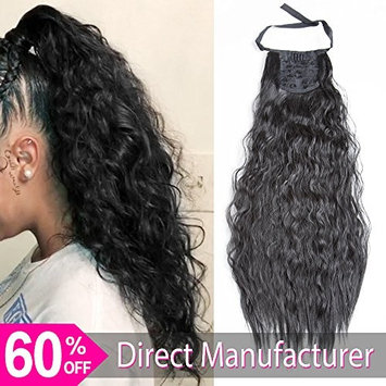 Ayana Long Synthetic Ribbon Ponytail Clip Heat Resistant Kinky Straight Ponytail Clip in Hair Extensions