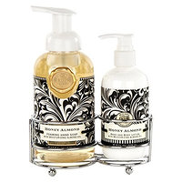 Michel Design Works Foaming Hand Soap and Lotion Caddy Gift Set, Honey Almond