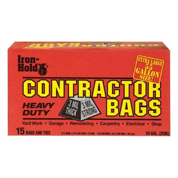 Filmguard Iron Hold 55 gal Contractor Trash Bags 15/Pack