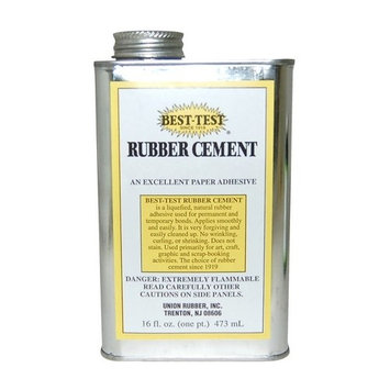 SPEEDBALL ART PRODUCTS 141 BEST TEST ACID FREE RUBBER CEMENT 160Z CAN