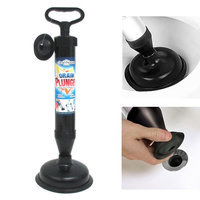 Atb Hand Powered Air Pump Action Drain Plunger Unclog Toilets Sinks Tubs Showers!