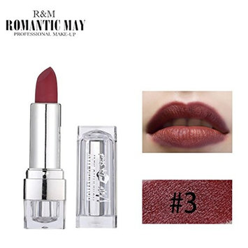 OUFENLI Women Lipstick, Waterproof Long Lasting Moisturizer Romantic May Lipstick Matte Lip Cosmetic Beauty Makeu Gift for Professional Makeup or Daily Use