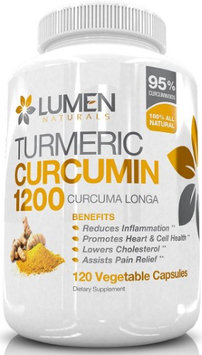 Lumen Naturals Turmeric Curcumin Super Strength 1200mg with 95% Curcuminoids - Powerful Anti Inflammatory - 120 Cap