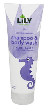 Lily Of The Desert - Kids Aloe-Based Shampoo & Body Wash Soothing Lavender - 8 oz.(pack of 4)
