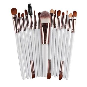 SMTSMT 2017 Super Soft 15pcs Makeup Brush Set tools Make-up Toiletry Kit Wool Make Up Brush Set