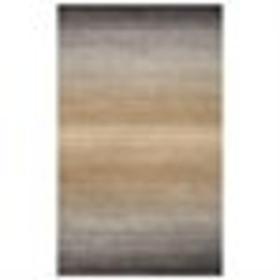 8' x 11' Tebebrous Twlight Nougat Brown and Rabbit Gray Hand Loomed New Zealand Wool Area Throw Rug