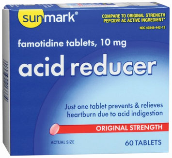 sunmark Antacid 10 mg Strength Tablets, 60 per Box