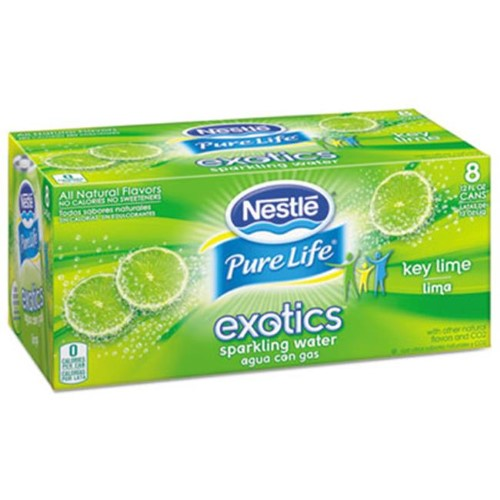 Nestle Waters N.A. 12252793 Pure Life Exotics Sparkling Water Key Lime 12 oz. Can