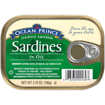 Ocean Prince Lightly Smoked Sardines in Oil, 3.75 oz