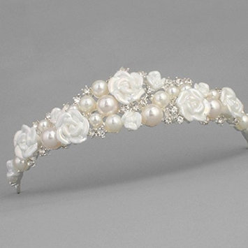 Stunning Tiaras with Rhinestones/Pearls for Wedding/Sweet Sixteen/Flower Girl/Quinceanera/First Communion Crown Headdress-Various Designs