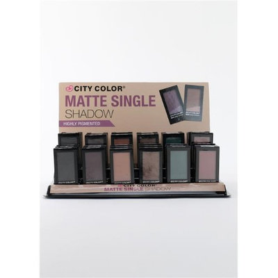 City Color B-0035 E-0052 Matte Single Shadow - Bundle of 10