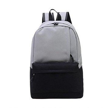 Lookatool Unisex Vintage Canvas Backpack Rucksack School Satchel Hiking Bag Bookbag