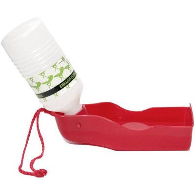 OxGord Pet 10 oz. Portable Water Bottle Bowl Dispenser Travel Feeder Dog Cat Drinking Fountain